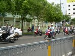 motorcycles in Saigon