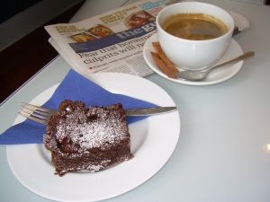 Chocolate brownie, Cups and Cakes, Dorchester