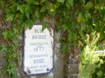 3. Blue bridge plaque