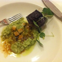 Beef Cheek: Malt – Parsley - Apple