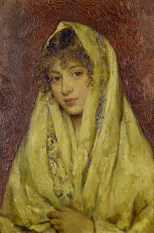Eugene_de_Blaas_Girl_in_a_yellow_shawl