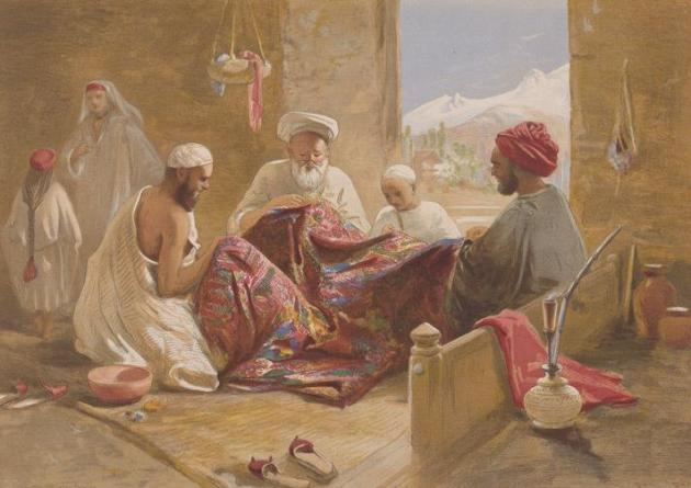 Muslim-shawl-makers-kashmir1867