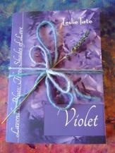 Violet with lavender and bow